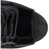 Sort Laklæder 20 cm FLAMINGO-1021 ankelstøvler damer med plateausål