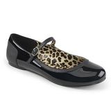 Sort Laklæder ANNA-02 store størrelser ballerina sko