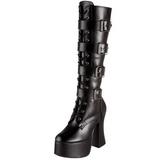Sort Mat 12 cm SLUSH-225 Gothic Støvler til Kvinder