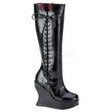 Sort Mat 13 cm BRAVO-100 Gothic Støvler til Kvinder