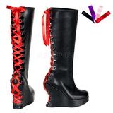 Sort Mat 13 cm BRAVO-106 Gothic Støvler til Kvinder