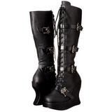 Sort Mat 13 cm BRAVO-109 Gothic Støvler til Kvinder
