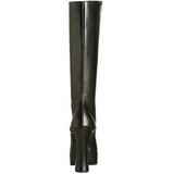 Sort Mat 13 cm Pleaser ELECTRA-2020 Plateaustøvler til kvinder