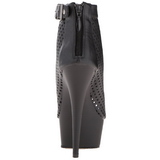 Sort Mat 15 cm DELIGHT-1011 ankelstøvler damer med plateausål