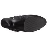 Sort Mat 15 cm DELIGHT-1019 ankelstøvler til damer med frynser