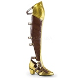 Sort Mat 6,5 cm MAIDEN-8830 Cosplay Overknee Støvler