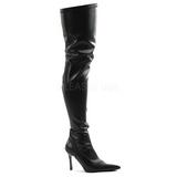 Sort Mat 9,5 cm LUST-3000 overknee støvler med hæl