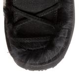 Sort Pels 13 cm CAMEL-311 Gothic Støvler til Kvinder