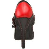 Sort Rød 11,5 cm rockabilly TEMPT-10 damesko med høj hæl