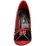 Sort Rød 12,5 cm SEDUCE-216 damesko med høj hæl