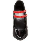 Sort Rød 15 cm DOMINA-442 damesko med høj hæl