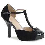 Sort Ruskind 11,5 cm PINUP-02 store størrelser pumps sko