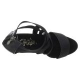 Sort elastisk bånd 15 cm DELIGHT-669 pleaser sko med høj hæl