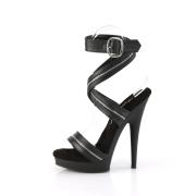 Sorte sandaler 15 cm SULTRY-619 højhælede vegan sandaler