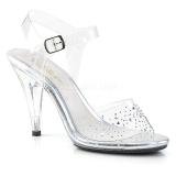 Strass sten 10 cm CARESS-408SD højhælede sandaler til kvinder
