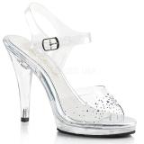 Strass sten 11,5 cm FLAIR-408SD højhælede sandaler til kvinder