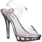 Strass sten 13 cm LIP-108SD højhælede sandaler til kvinder