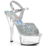 Strass sten 15 cm KISS-209RS højhælede sandaler til kvinder