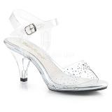 Strass sten 8 cm BELLE-308SD højhælede sko til mænd