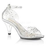 Strass sten 8 cm BELLE-330RS højhælede sandaler til kvinder