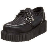 Striped 5 cm CREEPER-113 creepers shoes women gothic platforms