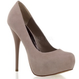 Suede Beige 13,5 cm GORGEOUS-20 Platform Stiletto Pumps