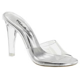 Transparent 11,5 cm CLEARLY-401 Plateau Women Mules Shoes