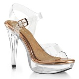Transparent 13 cm COCKTAIL-508 Bikini posing high heel shoes fabulicious