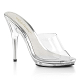 Transparent 13 cm Fabulicious POISE-501 womens mules shoes