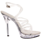 Transparent 13 cm LIP-106 Platform High Heels Shoes