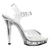 Transparent 13 cm LIP-108 Platform High Heels Shoes
