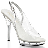 Transparent 13 cm LIP-150 Platform High Heels Shoes