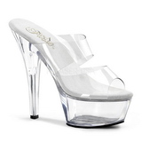 Transparent 15 cm KISS-202 Platform Mules Shoes