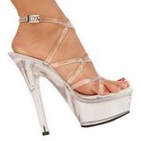 Transparent 15 cm KISS-206 Platform High Heels Shoes