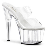 Transparent 18 cm ADORE-702 Platform Mules Shoes