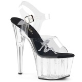 Transparent 18 cm ADORE-708RSTG high heeled sandals