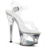 Transparent 18 cm Pleaser MOON-708DM High Heels Platform