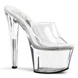 Transparent 18 cm TREASURE-701 stripper mules poledance sko