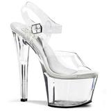 Transparent 18 cm TREASURE-708 stripper sandaler poledance sko