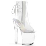 Transparent 18 cm XTREME-1018C Pole dancing ankle boots