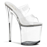 Transparent 20 cm Pleaser FLAMINGO-802 Platform High Heel Mules