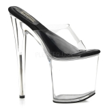 Transparent 20 cm SOL-801-O Platform Mules Shoes