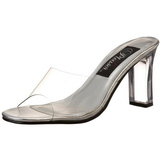 Transparent 8,5 cm ROMANCE-301 Plateau Women Mules Shoes