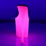 Transparent FLAMINGO-801UVG 20 cm Neon Plateau Høje Slip in Mules