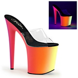 Transparent RAINBOW-801UV 20 cm Neon Platform Mules Shoes