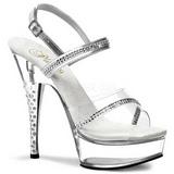 Transparent Rhinestone 15 cm DIAMOND-639 Platform High Heels Shoes