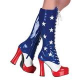 USA Mønster 13 cm ELECTRA-2030 Høje Damestøvler til Mænd