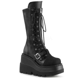 Vegan 11,5 cm SHAKER-71 demonia knee boots wedges platform