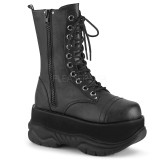 Vegan 7,5 cm NEPTUNE-200 demonia ankle boots - unisex platform ankle boots