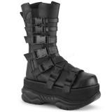 Vegan 7,5 cm NEPTUNE-210 demonia støvler - unisex plateaustøvler
